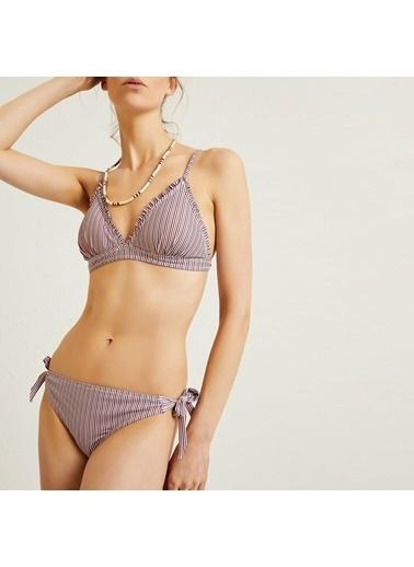 Yargıcı Kadın Yani Bağlama Detayli Bikini Alt 9YKBW1412A Bordo